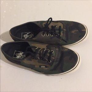 Vans camo sneakers
